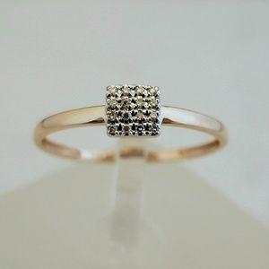 Delicate 14k Rose Gold & Diamonds Ring